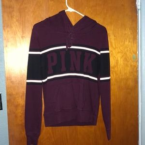 maroon victoria secret PINK sweatshirt